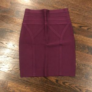 Bebe high waisted bandage skirt